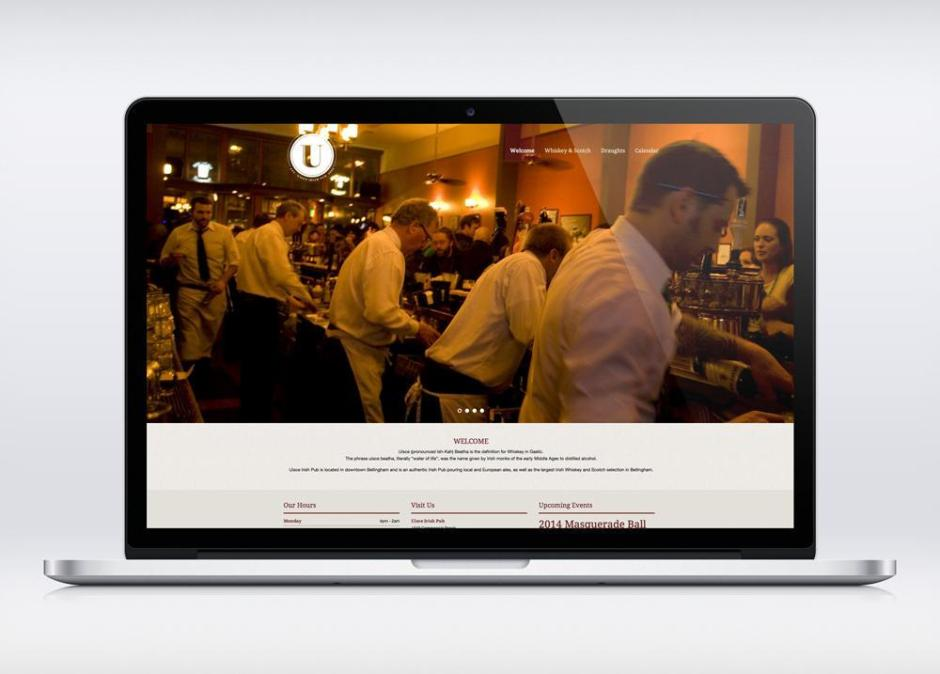 Uisce Irish Pub Web Design