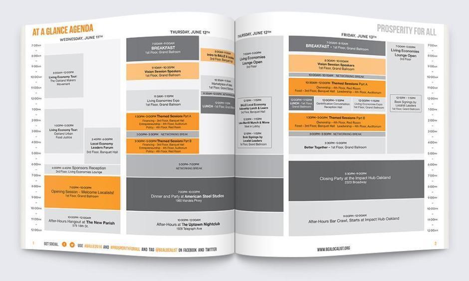 BALE Conference Branded Program Guide, exterior