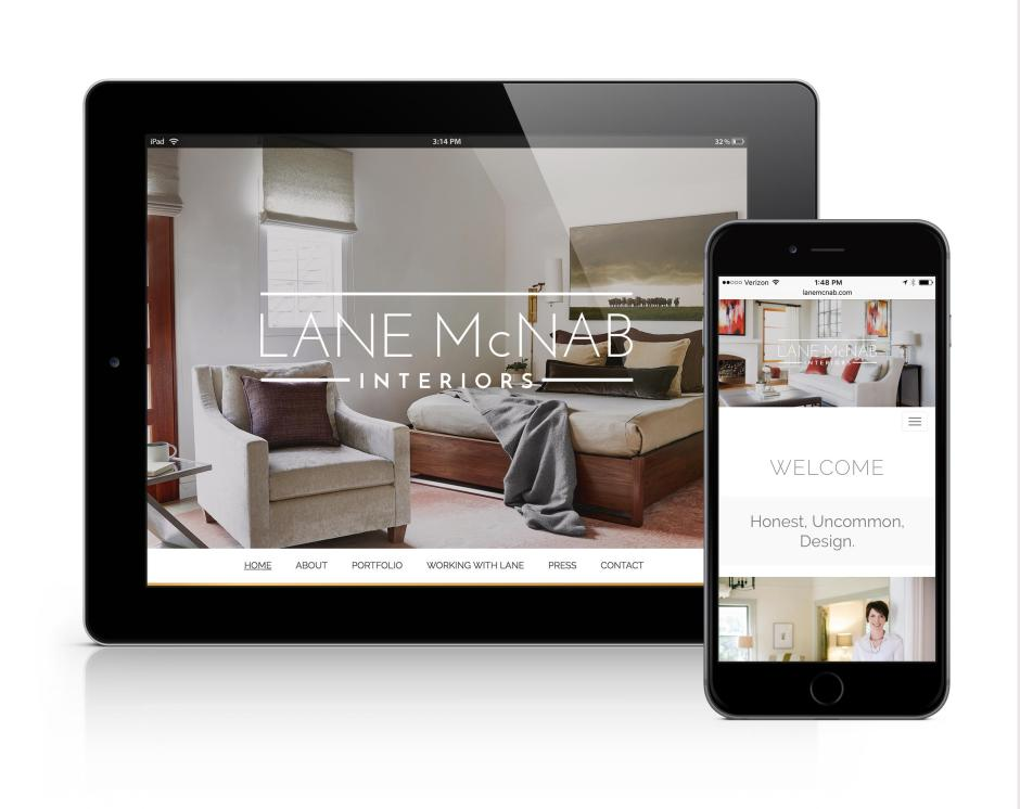 LaneMcNab - Mobile Site