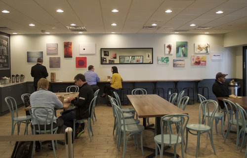 Cafe with Artwork