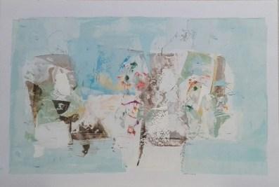 18 Mieszana ,akryl. ''Wspomnienie'' 20cm x 29,5cm. 2016