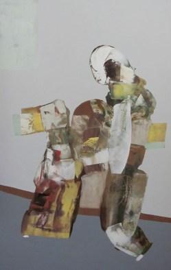 39 Olej płyta. ''Domniemany skurcz'' 80 cm x 50 cm. 2015