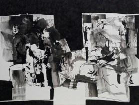 7 Rysunek ,tusz,karton'' Za blisko odeszliśmy'' 24cm x30cm. 2011