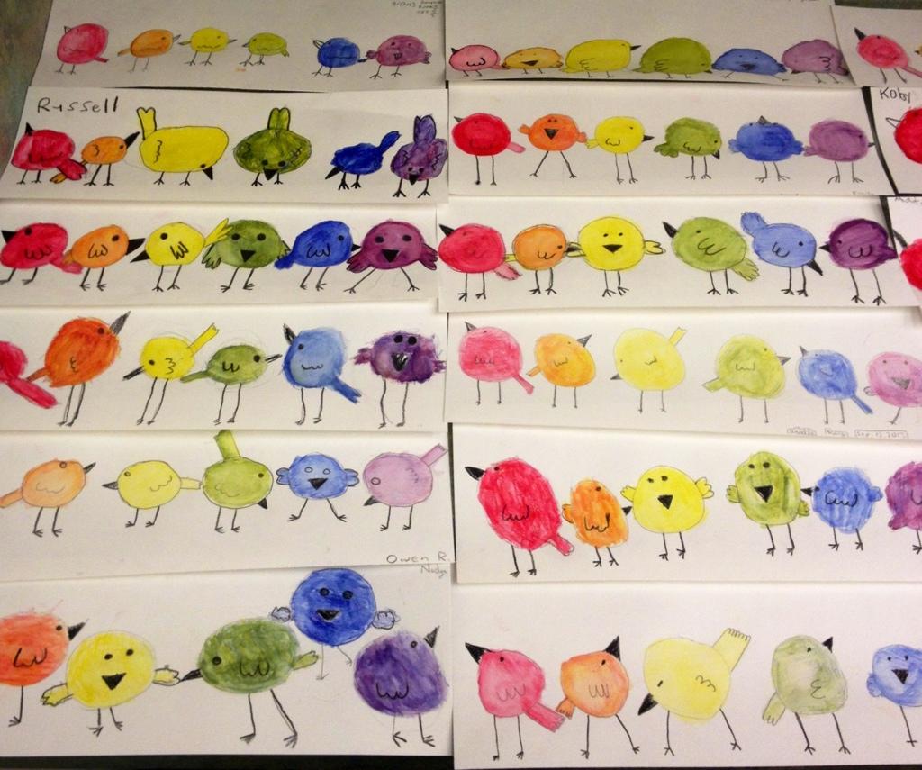 Color Wheel Birds