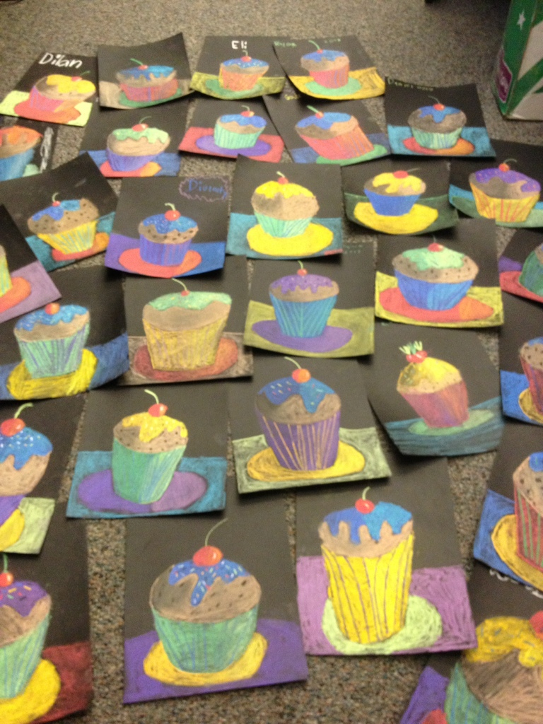 Cupcakes Values And Shadows Art Teacher In LA