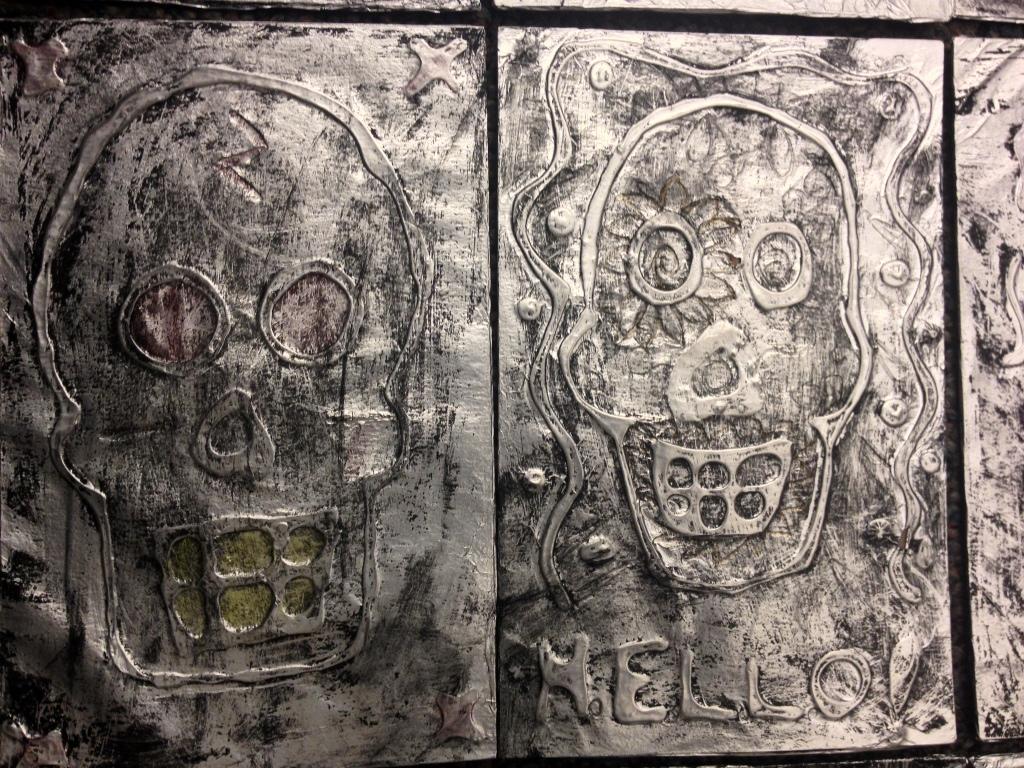 Halloween Art- Foil Skulls