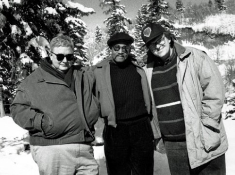 Roger Ebert, Melvin Van Peebles and Michael More. Photo by Sandria Miller.