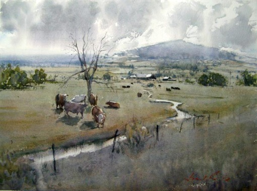 """""""Moo Valley, CA"""" by Frank Eber."""
