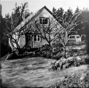 Saori Miyake (b. 1975), A House and the Yard (2011). Photogram, gelatin silver print.