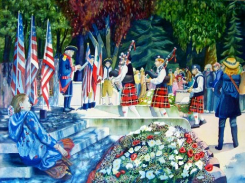"""""""Hometown Holiday"""" by Jean Watson."""