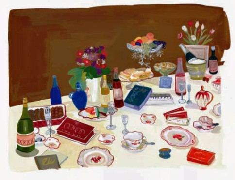 """""""Be obscure clearly"""" Be wild of tongue in a way we can understand!"""" by Maira Kalman, gouache on paper, 2004. Courtesy of the artist and Julie Saul Gallery, New York. © Maira Kalman."""