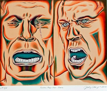 """Rather Rage Than Tears"", From The Retrospective In A Box, 2012, Lithograph, by Judy Chicago. Museum Purchase, 2013."