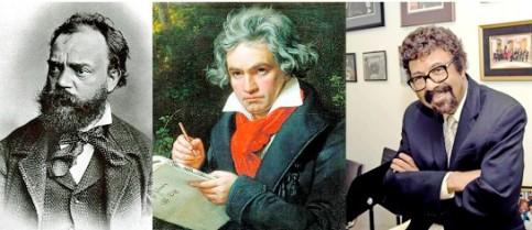 Antonín Dvořák, Ludwig van Beethoven and David Baker.
