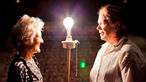 Ann Hamilton and Anne Bogart. Photo Katie Spengler.