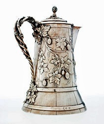 Edward C. Moore (American, 1827–1891) (designer and maker) for Tiffany & Co. (American, est. 1837) (retailer), beer pitcher, about 1857, Promised Gift of Martin K. Webb and Charles L. Venable.
