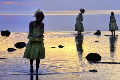 """Molokai Maidens"" by Felice Willat, photography, 20 x 13 inches, 2014."