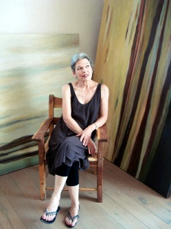 Gail Factor in her studio, north of Santa Fe, New Mexico in 2012.