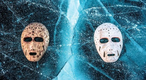 """Masks on Ice"" by Michael Conti."