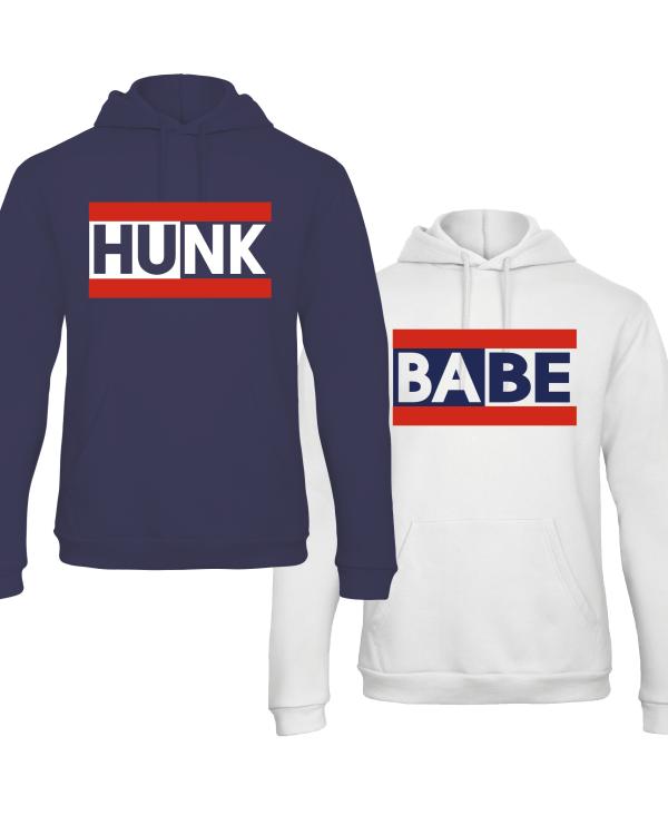 Hunk & Babe hoodies