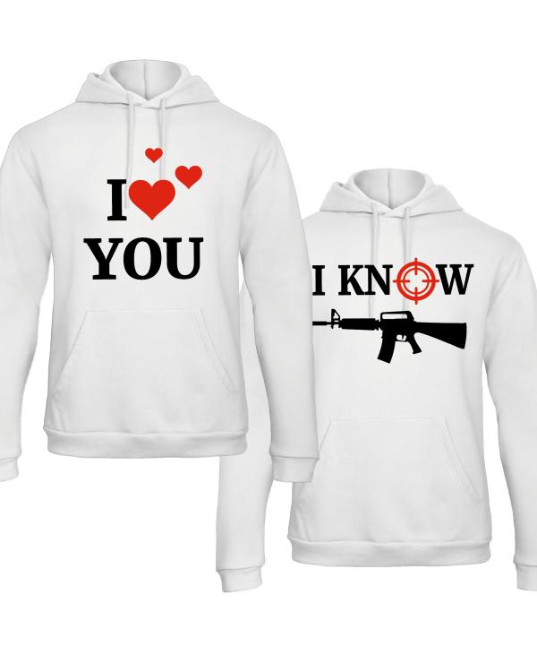 I love you hoodies