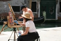 Painting along the canal