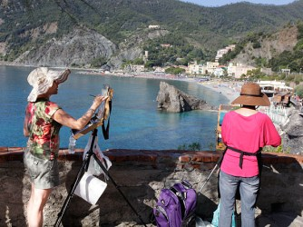Painting in Monterosso