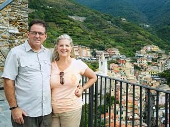 View above Riomaggiore