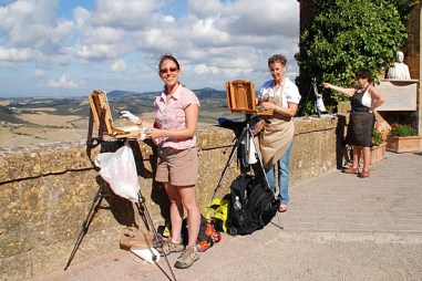 Painting in Montepulciano