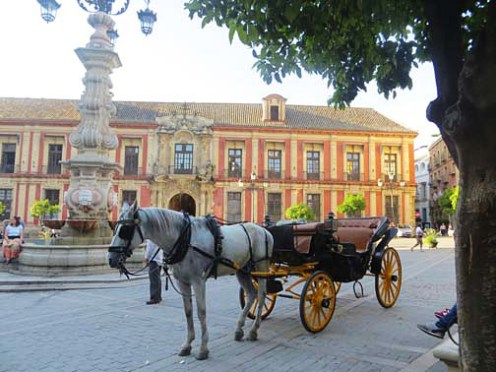 Horse and carriage in Sevilla