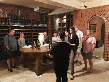 Learning about Croatian wines.