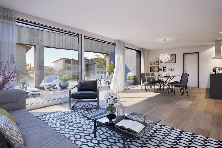 die Vorteile einer Eigentumswohnung im Charakter eines Einfamilienhauses