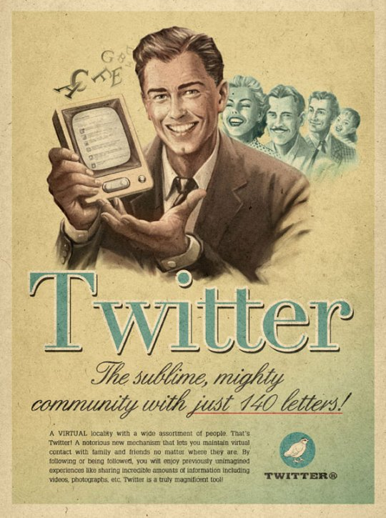 Vintage-Twitter ads