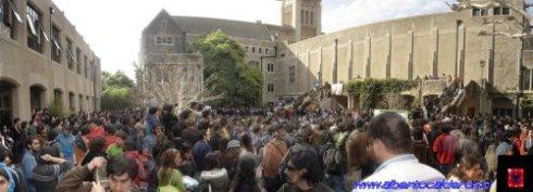 Asamble de alumnos durante el Paro - cortesía www.albertocalderon.cl