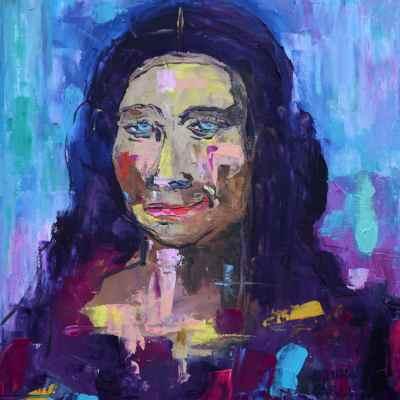 """La Gioconda Oaxaqueña. Oil. 16""""X12"""" Original Available for Sale."""