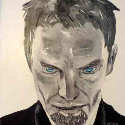 """Sting. Oil painting 30""""X24"""""""