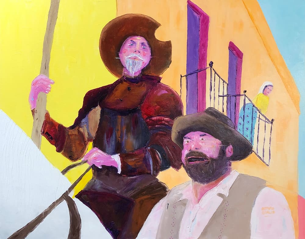 "Man of La Mancha. Oil. 24""X30"" Original Available for Sale."