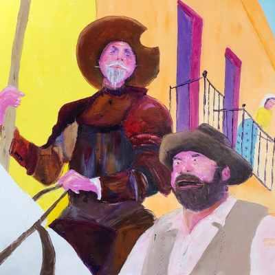 "Man of La Mancha. Oil. 24""X30"" Original Available for Sale."