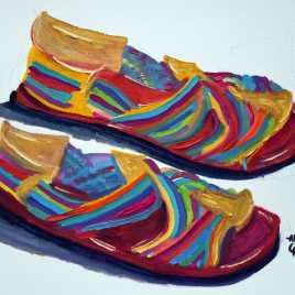 Huaraches de Colores