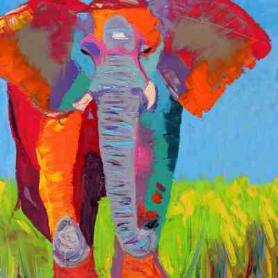 Blue Elephant. Oil. NAFS.