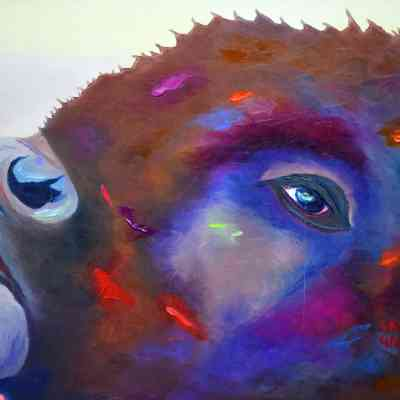 """Morning Grunt. Oil. 24""""X36"""" Available."""