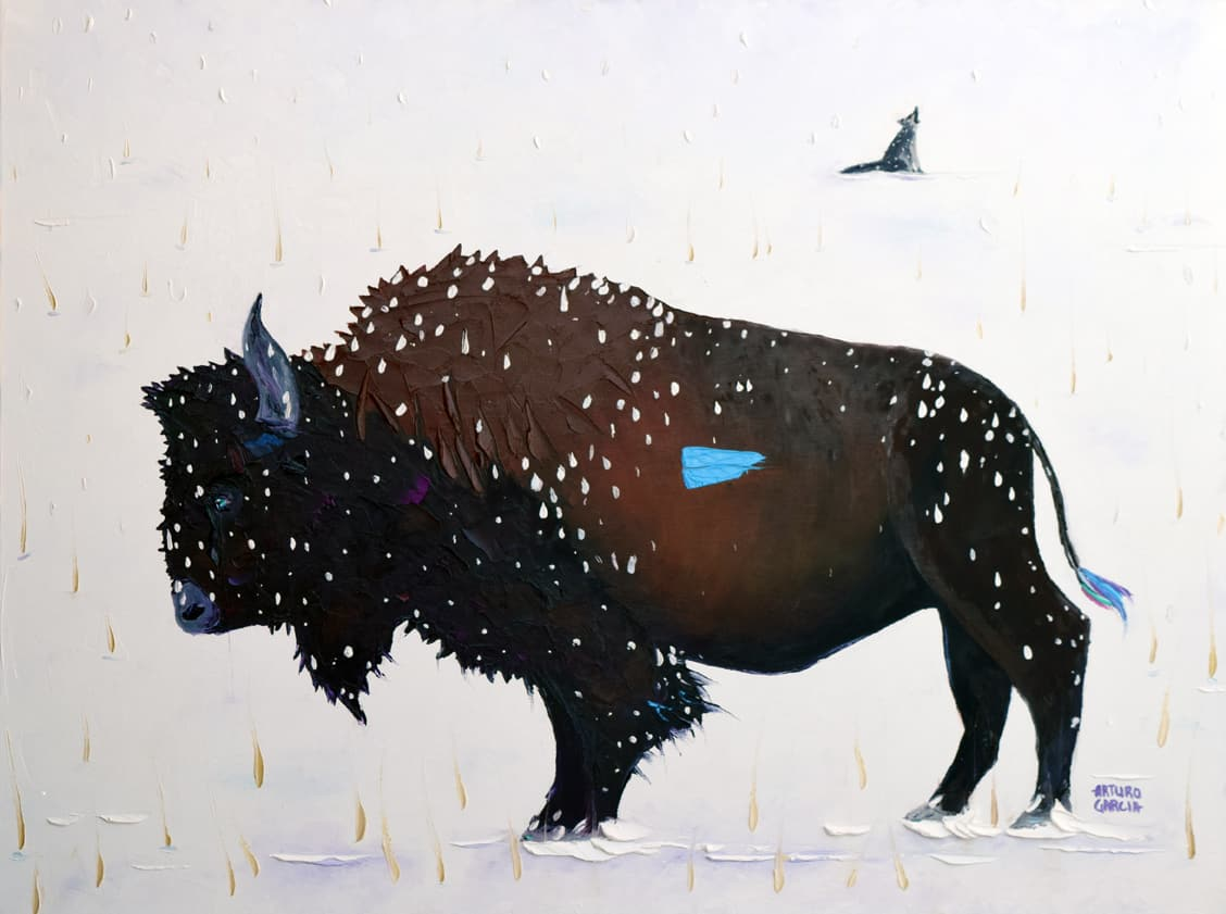 """Winter Calling. Oil. 30""""X40"""". Available for Sale."""