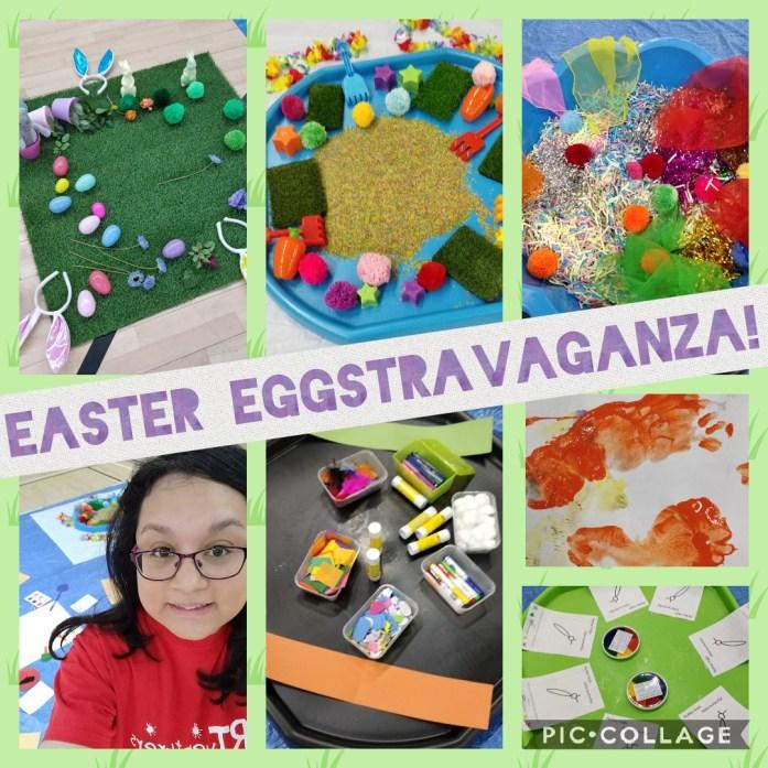 easter eggstravaganza art collage