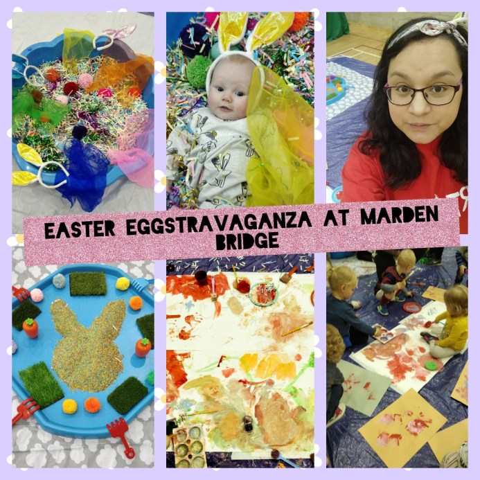 easter eggstravaganza art collage baby messy play