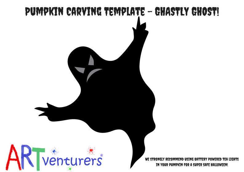 Easy pumpkin carving ideas from artventurers pumpkin carving template easy ghost shape sciox Choice Image