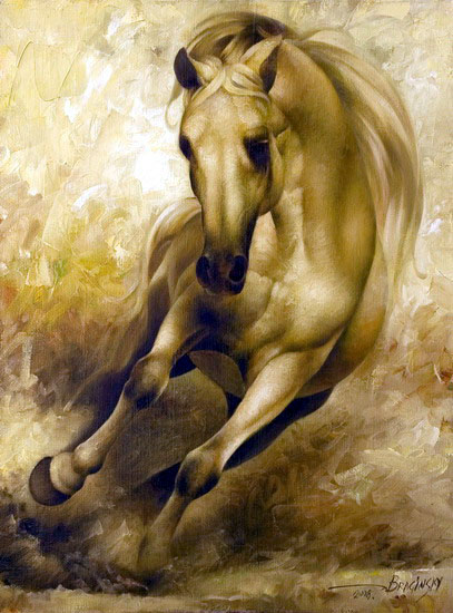 Arthur Braginsky - The Horse 80x60, oil on canvas, 2008