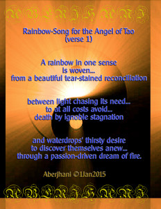 Rainbow Song for the Angel of Tao poem and typographic art copyright by Aberjhani 8L