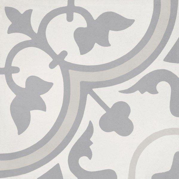 bati orient cement tile decor classic 8 x 8 off white dark grey light grey