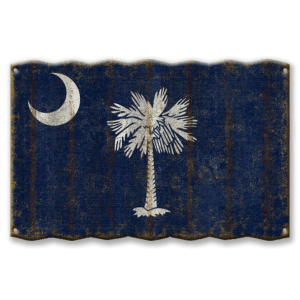 SC State Flag Wall Sign