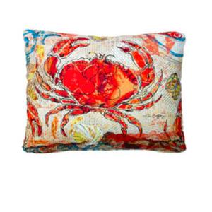 Red-Crab-Indoor-Outdoor-Pillow