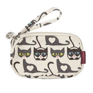 Cat Bungalow 360 Clutch Coin Purse